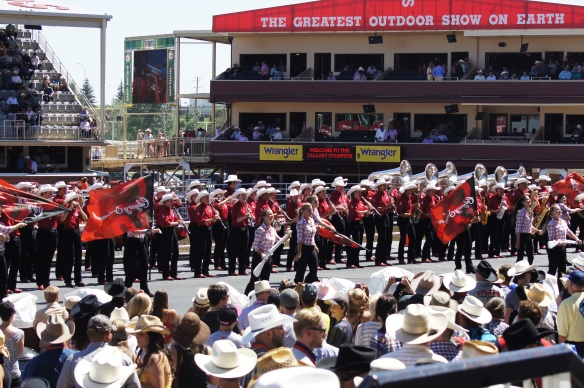 Calgary Stampede Band performing at intermission.